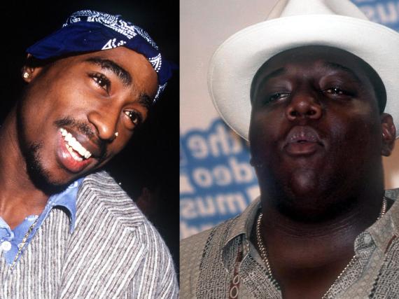 Über sie wird es eine TV-Serie geben: Tupac Shakur (l.) und Notorious B.I.G.