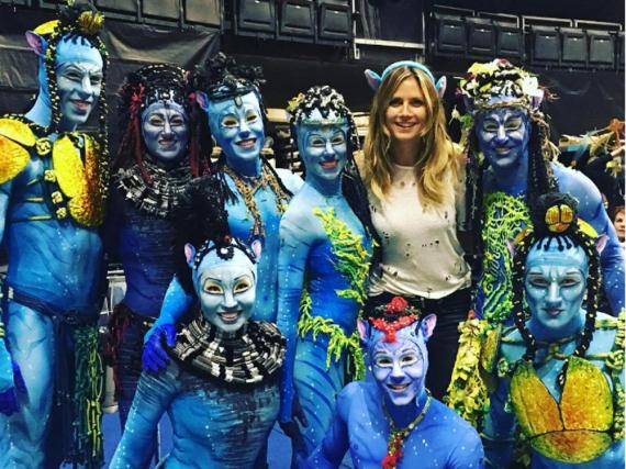 Heidi Klum mit den Darstellern aus