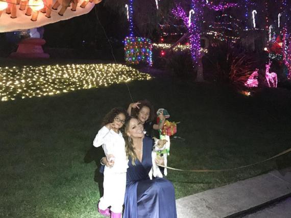 Mariah Carey und ihre Kinder Monroe und Moroccan können Weihnachten kaum erwarten