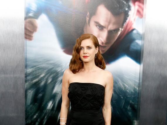 Amy Adams hat Superman im Rücken: Die Schauspielerin bei der Premiere des ersten Teils von