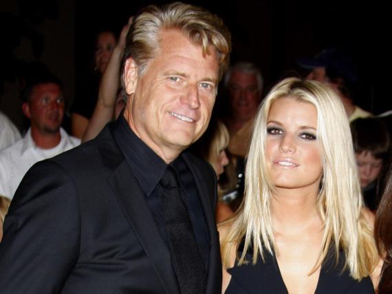 Joe Simpson mit seiner Tochter Jessica bei einer Veranstaltung im Herbst 2009 in Beverly Hills