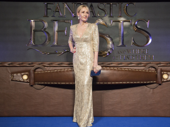 J. K. Rowling bei der Europa-Premiere von