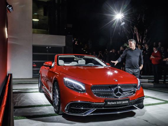 Mercedes-Designchef Gorden Wagener präsentiert das Maybach-Cabriolet