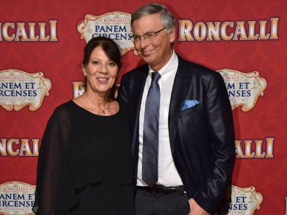 Wolfgang Bosbach und seine Ehefrau Sabine im November 2016 bei einer Veranstaltung in Köln
