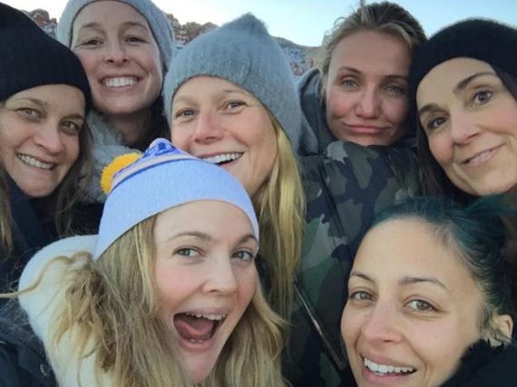 Sieht nach Spaß aus bei Drew Barrymore und ihrer Mädels-Clique