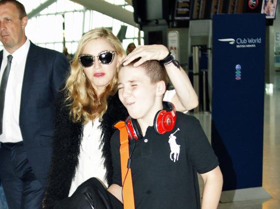 Madonna mit ihrem damals 11-jährigen Sohn Rocco Ritchie 2011 in London