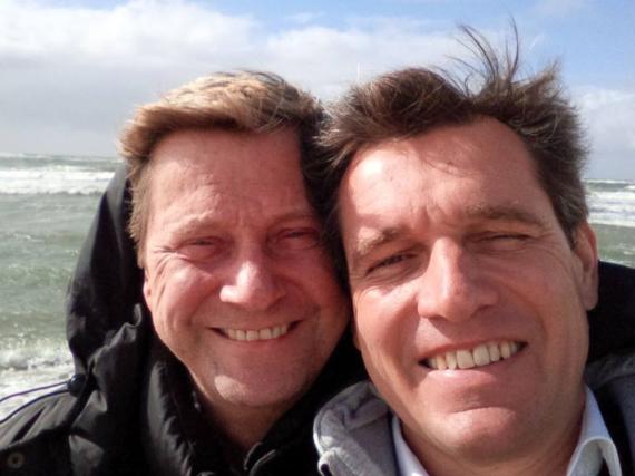 Mit diesem Foto erinnert Michael Mronz an seinen verstorbenen Mann Guido Westerwelle
