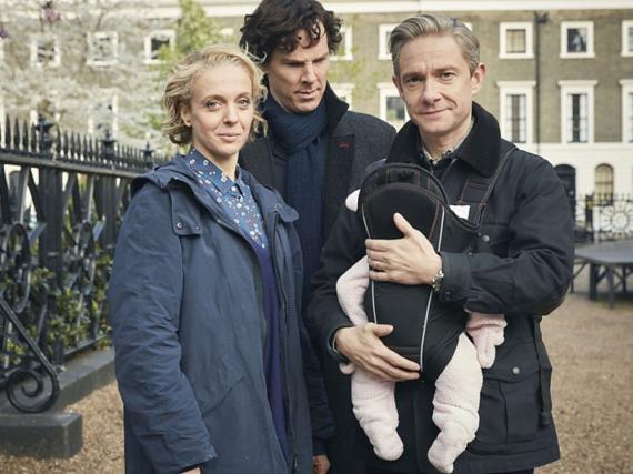 Mit Watson Junior scheint Sherlock (Benedict Cumberbatch, Mitte) seine liebe Mühe zu haben
