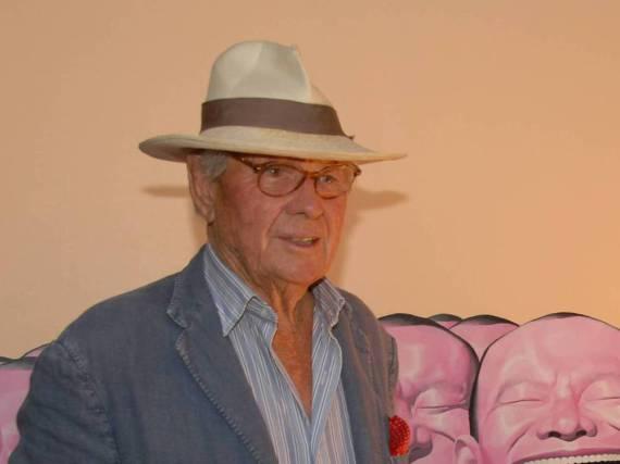 Fotograf David Hamilton bei einer Veranstaltung in Saint Tropez