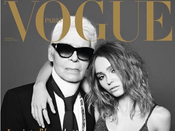Karl Lagerfeld und Lily-Rose Depp kennen sich bereits seit dem achten Lebensjahr der jungen Schauspielerin