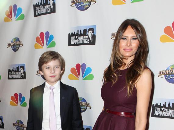 Melania Trump mit ihrem Sohn Barron