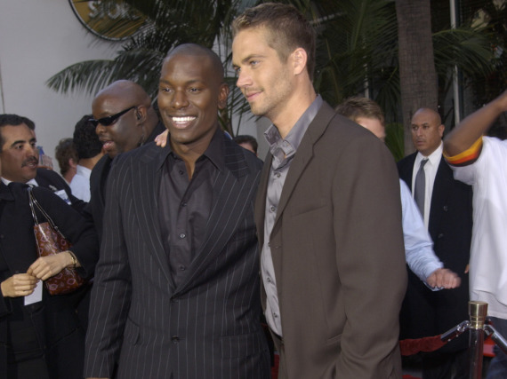 Tyrese Gibson (l.) und Paul Walker bei der Premiere von