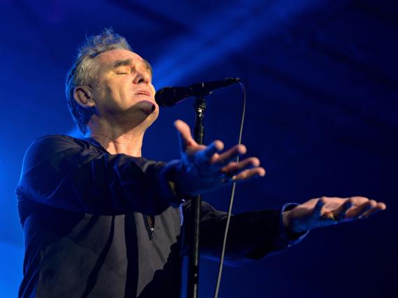 Morrissey, legendärer Sänger der Smiths, bei einem Auftritt in Spanien