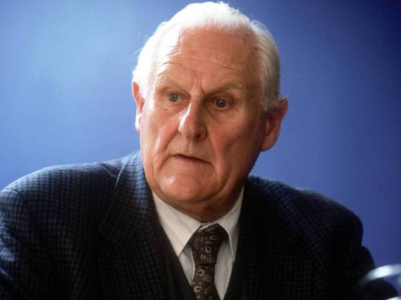 Peter Vaughan, hier am Set des Films