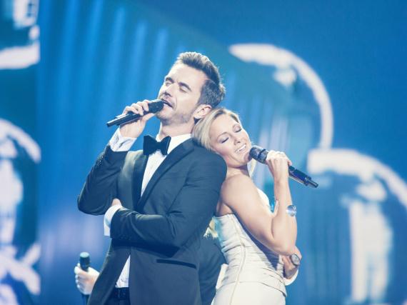 Ein inniges Duett mit ihrem Lebensgefährten Florian Silbereisen darf in der