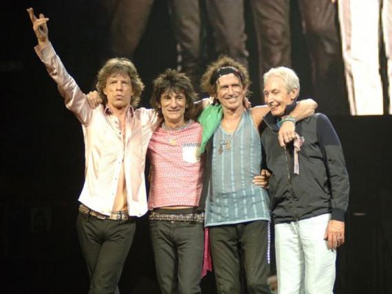 Die Rolling Stones landen mit