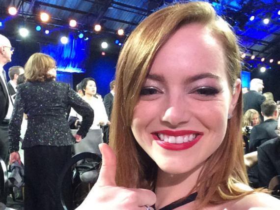 Emma Stone holte zwar persönlich keinen Award, aber ihr Film