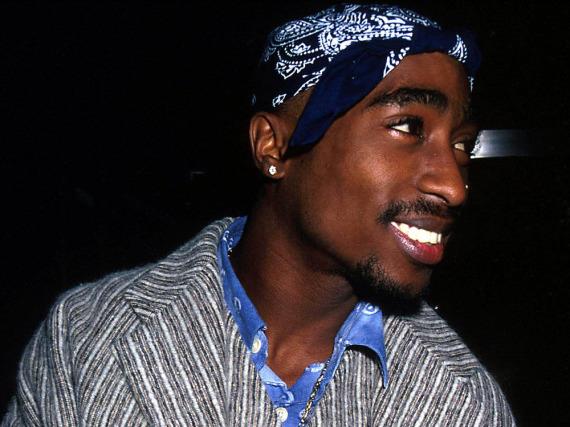 Tupac Shakur 1995 bei der Premiere des Film