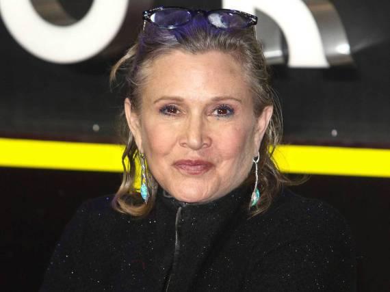 Carrie Fisher hat die Dreharbeiten am achten