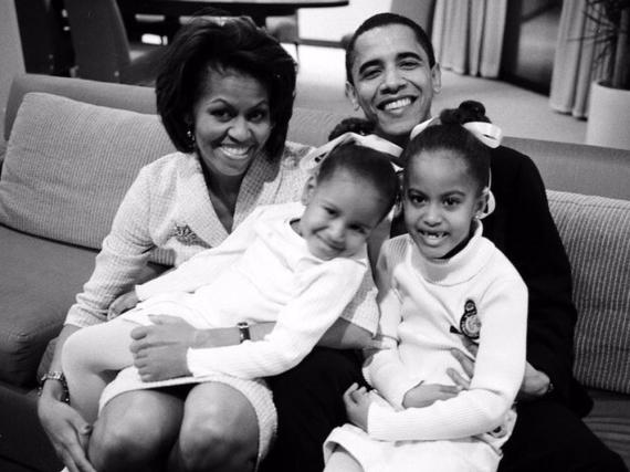 Ein altes Foto der Obama-Familie