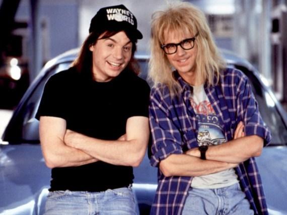 Wayne Campbell (Mike Myers, l.) und Garth Algar (Dana Carvey) aus der Kultreihe