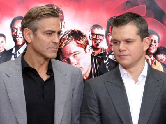 George Clooney (l.) und Matt Damon sind seit Jahren eng befreundet