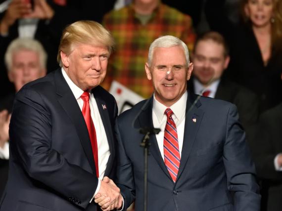 Auch für Trumps Vize-Präsident Mike Pence (r.) wird die MSC einen enormen Aufwand betreiben
