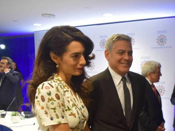 Erwarten im Juni Zwillinge: Amal und George Clooney