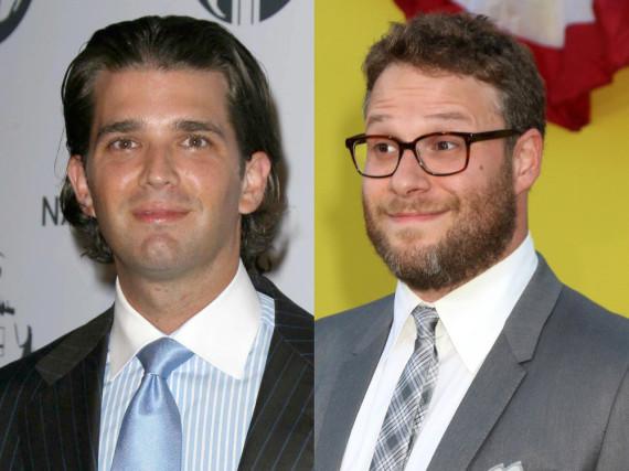 Wird Donald Trump Jr. (l.) Schauspieler Seth Rogen wohl helfen?
