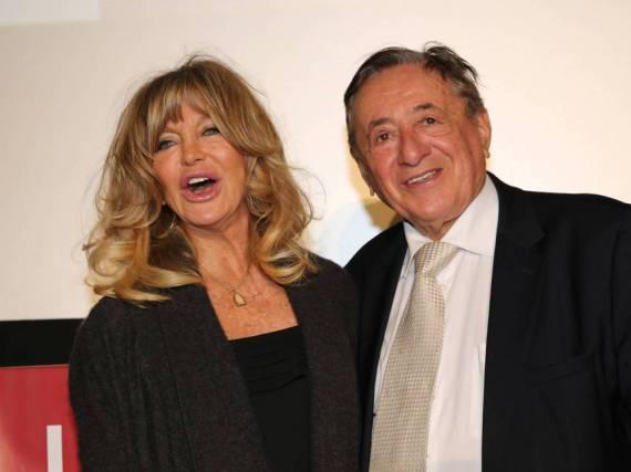 Goldie Hawn und Richard Lugner bei der Pressekonferenz in Wien