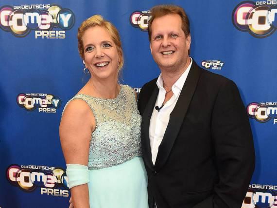 Jens Büchner mit seiner Partnerin Daniela bei der Verleihung des Deutschen Comedypreises 2016