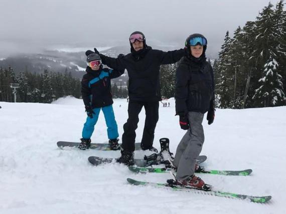 Die Beckhams waren im Winterurlaub in Kanada