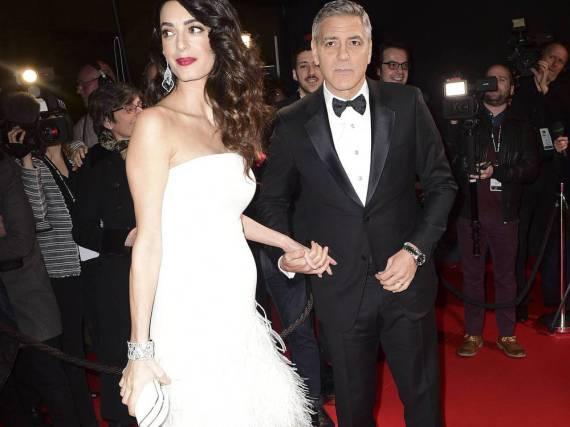 Das Ehepaar Clooney in Paris