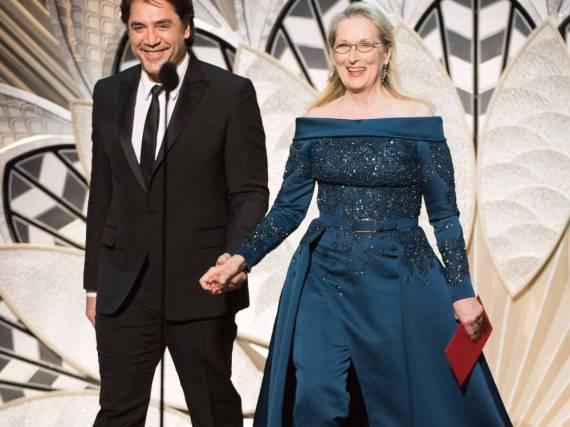 Meryl Streep trat an der Seite von Javier Bardem und in einer schicken Abendrobe auf die Bühne
