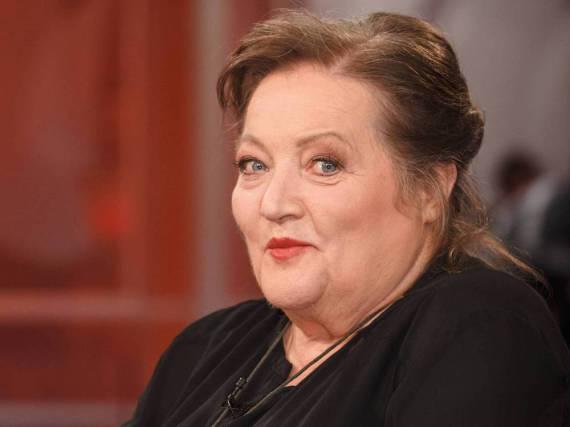 Marianne Sägebrecht im März 2016 zu Gast in einer Talkshow