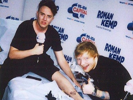 Auf diesem Foto scheint nur Ed Sheeran Spaß zu haben