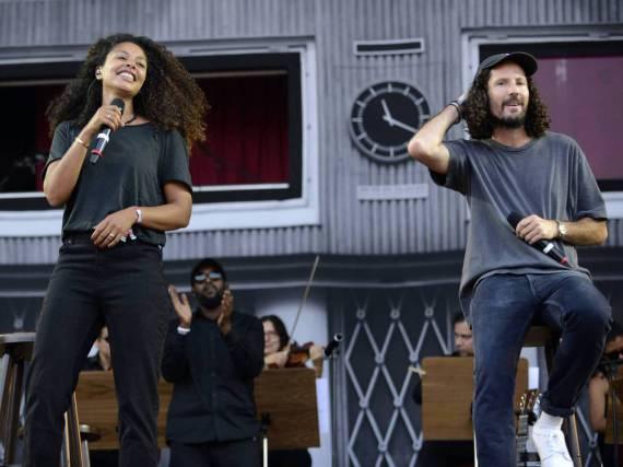 Werden im Mai wieder gemeinsam auf der Bühne stehen: Joy Denalane und Max Herre