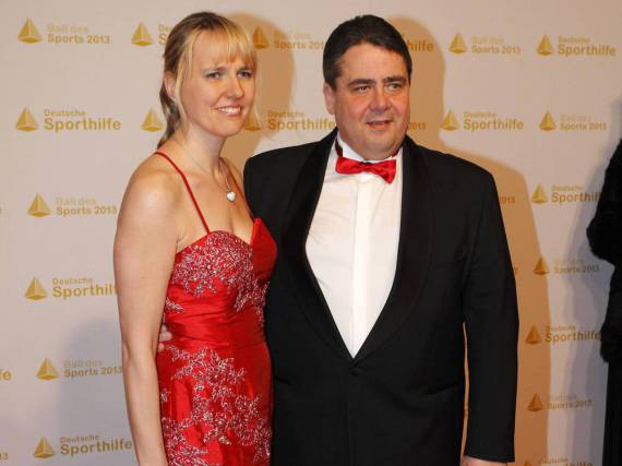 Sigmar Gabriel und seine Frau Anke Stadler auf einer Sportgala
