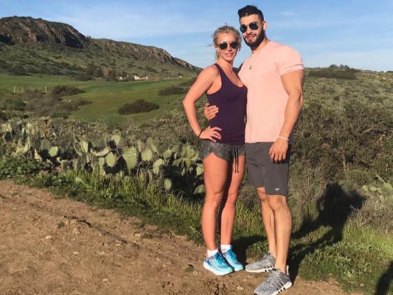 Umarmen und sporteln: Britney Spears und Sam Asghari