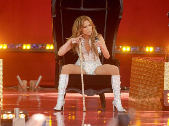 Jennifer Lopez ist selten ohne hohe Schuhe zu sehen