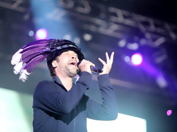 Jay Kay während eines Auftritts seiner Band Jamiroquai