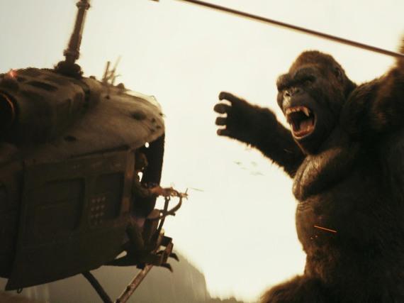 Das erste Aufeinandertreffen mit King Kong ist das Highlight des Films