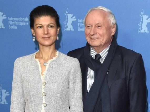 Sahra Wagenknecht und ihr Mann Oscar Lafontaine