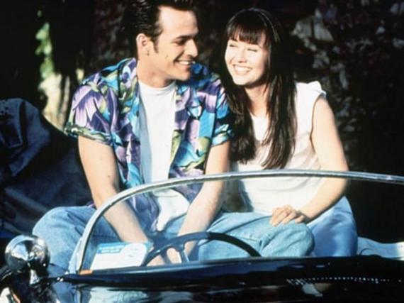 Dylan und Brenda, gespielt von Luke Perry und Shannen Doherty, schwebten in