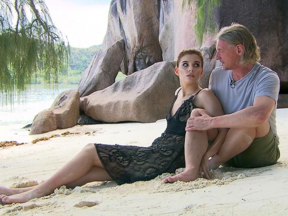 Nathalie Volk und Frank Otto auf den Seychellen
