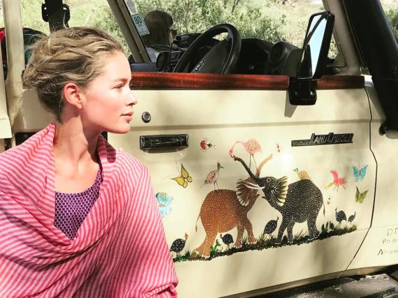 Das niederländische Topmodel Doutzen Kroes setzt sich für die Rettung von Elefanten ein