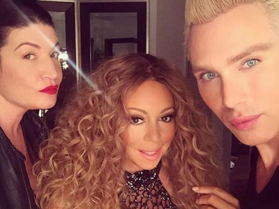 Star-Friseurin Danielle Priano (l.) zauberte Mariah Carey bereits eine wilde Lockenmähne