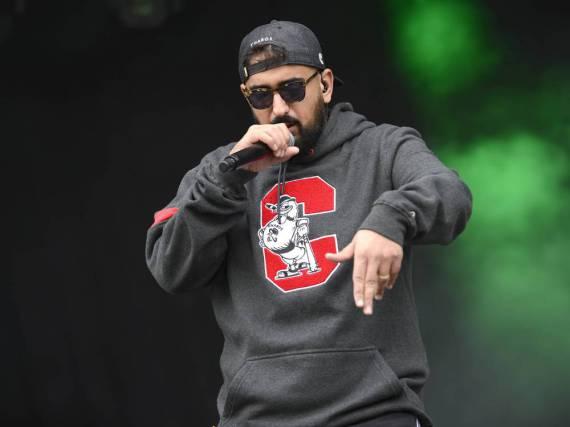 Rapper Haftbefehl bei einem Festival-Auftritt im August 2016