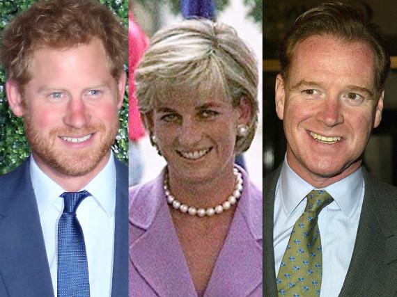 Immer wieder wird über die Ähnlichkeit von Dianas Ex-Freund James Hewitt (r.) und ihrem Sohn Prinz Harry (l.) spekuliert