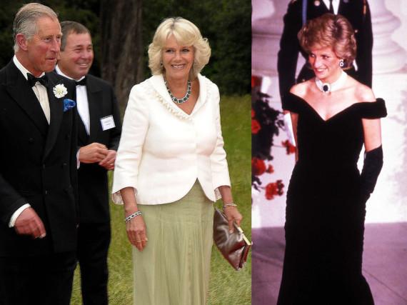 Todestag vs. Geburtstag: Herzogin Camilla und Prinzessin Diana (re.)